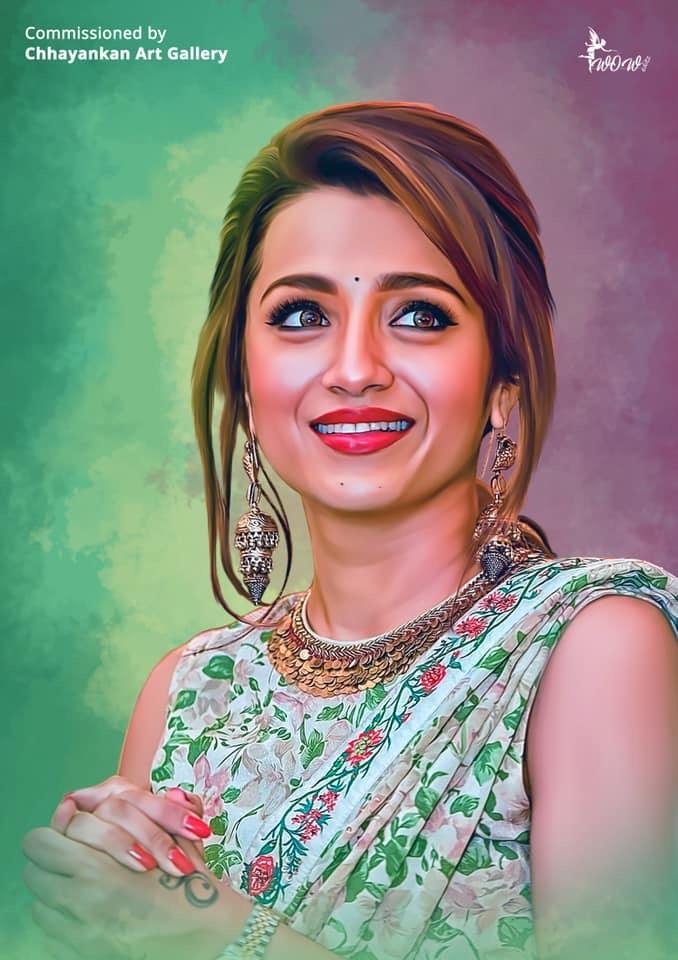 Trisha Krishnan by CHHAYANKANArts